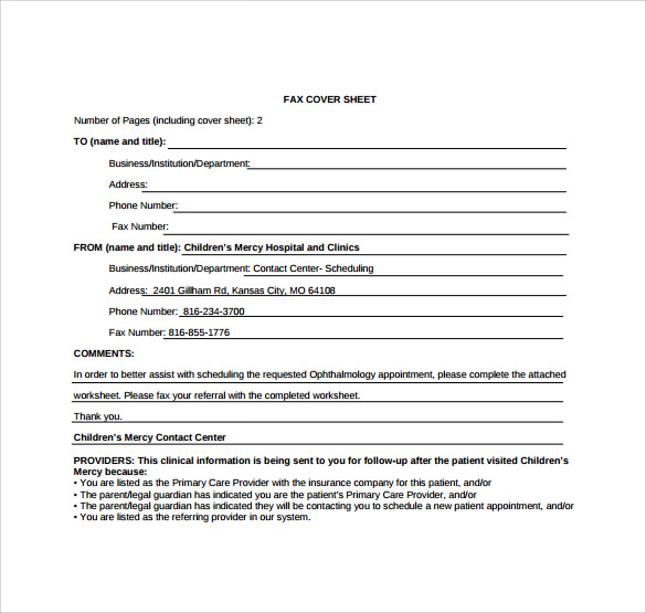 urgent fax cover sheet download