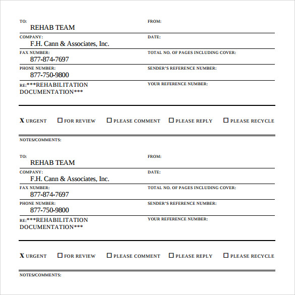 15 Urgent Fax Cover Sheets – Samples, Examples & Formats | Sample ...