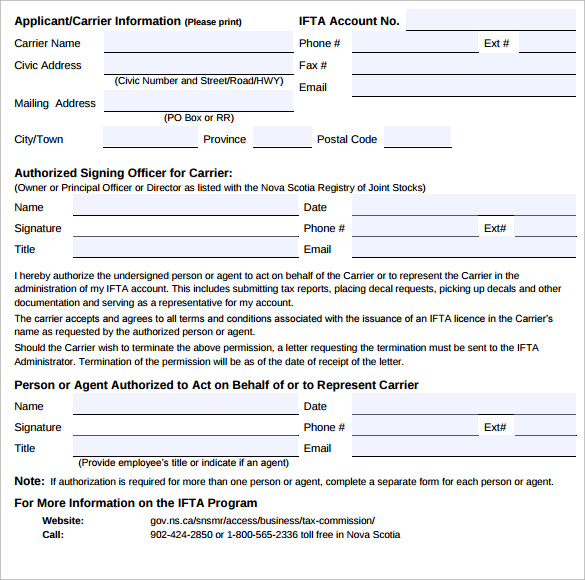 tax letter of authorization form