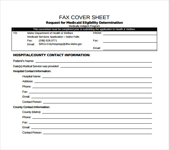 Medical Fax Cover Sheet Example  Example Of Fax Cover Letter