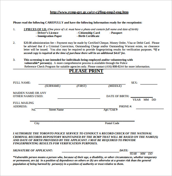 clearance letter authorization