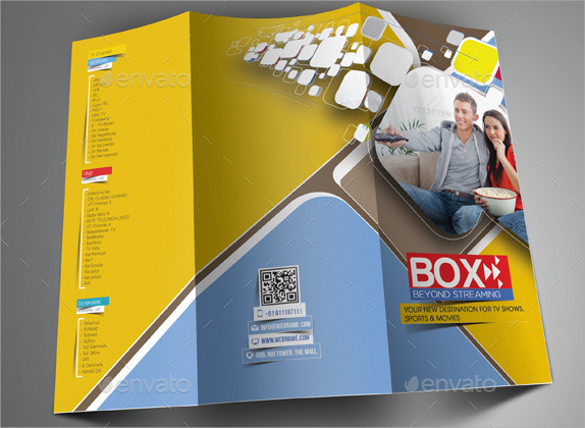video trifold brochure