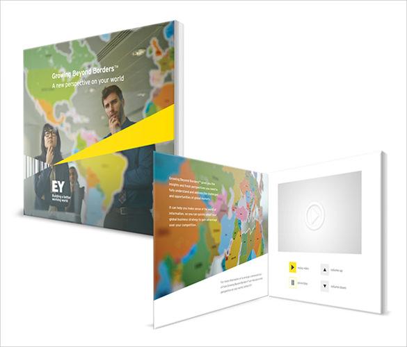 13 video brochures sample templates for Interactive brochure design