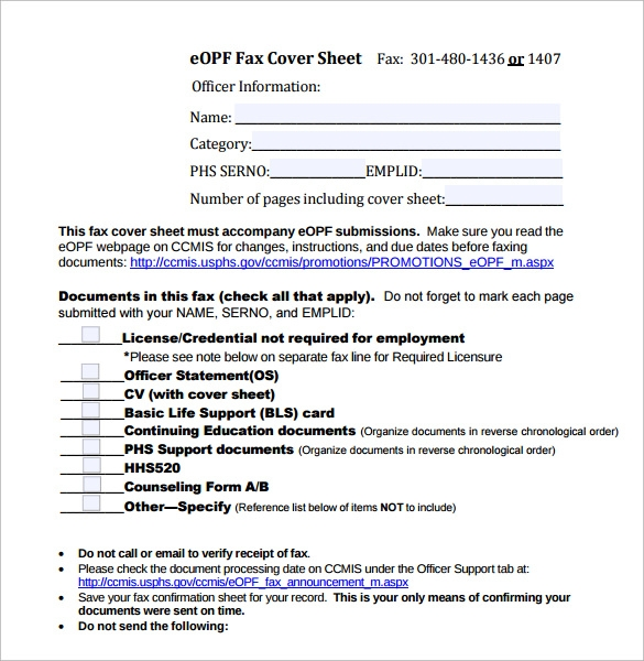 professional fax cover sheet sample