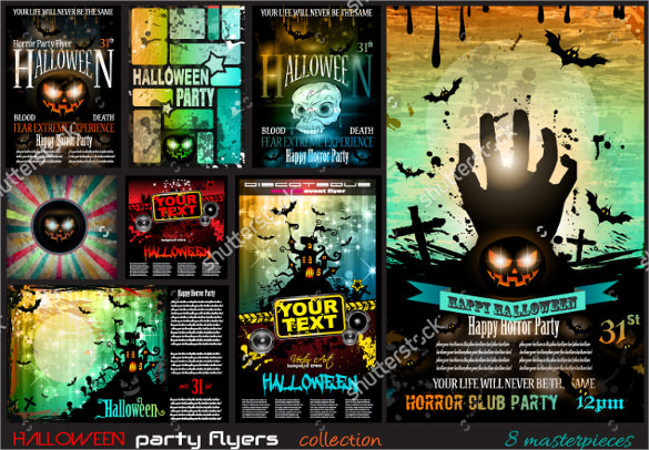 amazing black flyer template