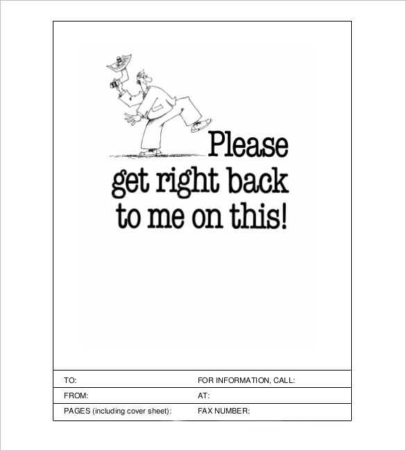 Cute Fax Cover Sheet A Cartoon Person Waits Anxiously For A Fax To