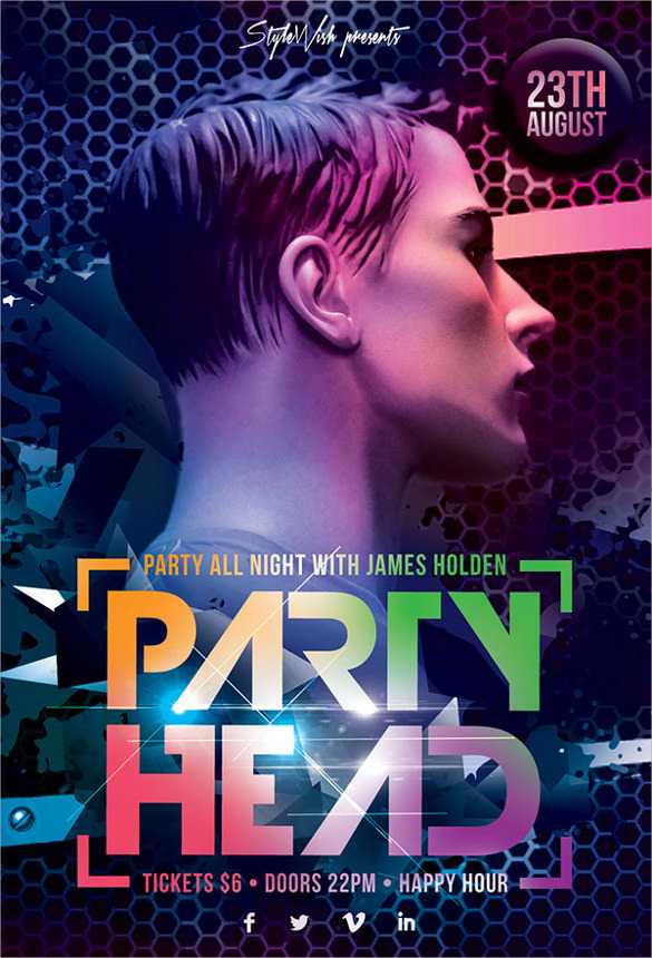 dark party head flyer1