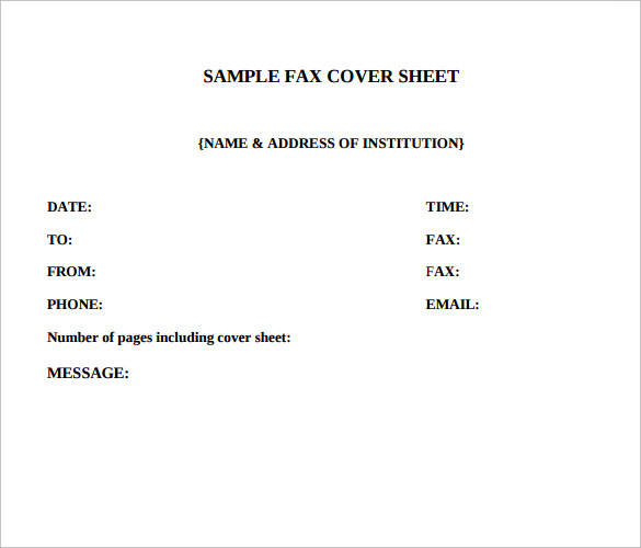funny fax cover sheet 5 samples examples format