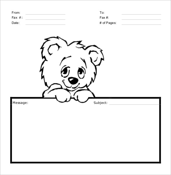 Sample Cute Fax Cover Sheet - 7 + Documents In Pdf, Word