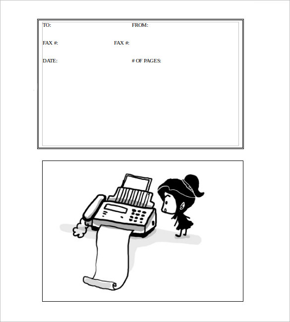 cute fax cover sheet sample