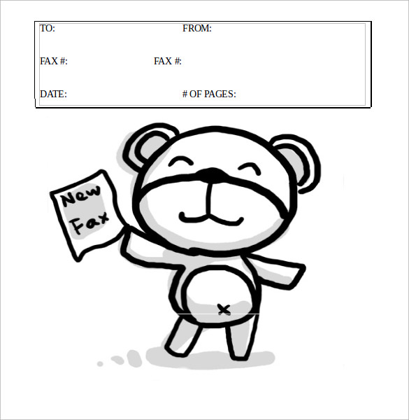 Cute Cartoon Fax Cover Sheet