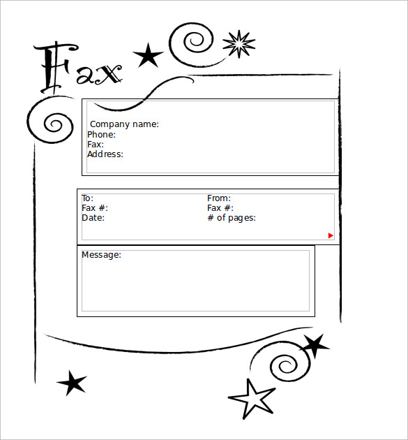 Sample Cute Fax Cover Sheet    Documents In  Word