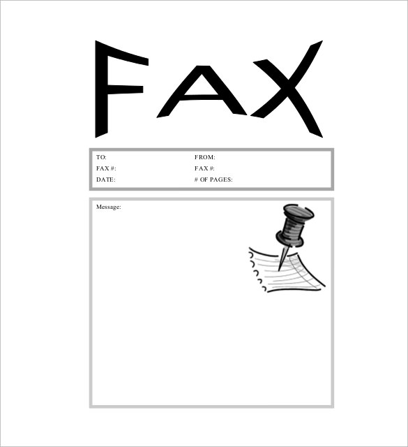 fax cover sheet cute pdf