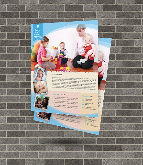 Daycare Flyer Flyer  Ad Child Care  Flyer Templates  Word