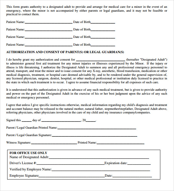 Sample Medical Authorization Letter   Documents In Pdf  Word