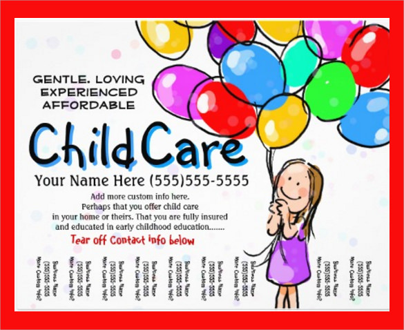 Daycare Flyer Template   Download Free Documents In Vector Eps