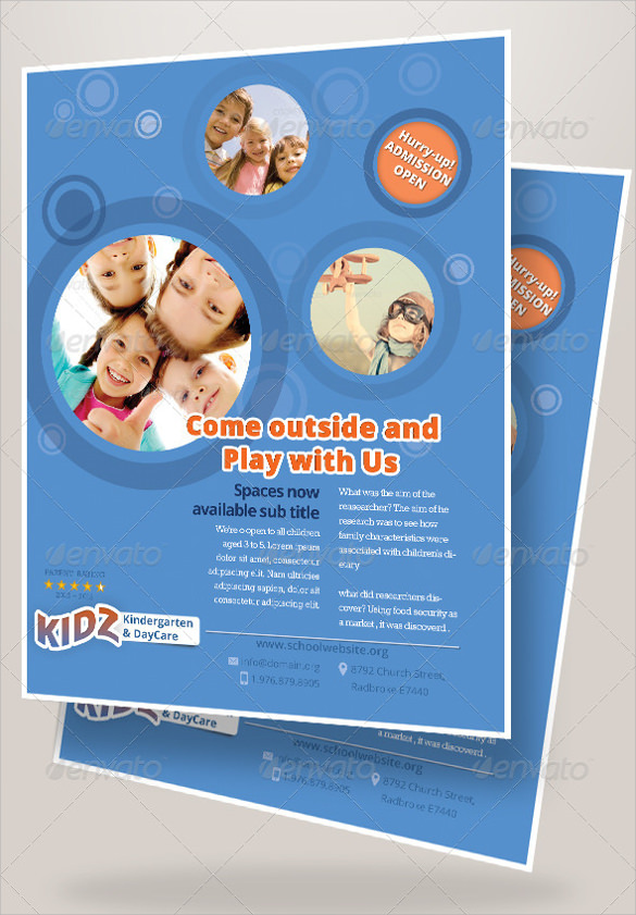 33  daycare flyer templates
