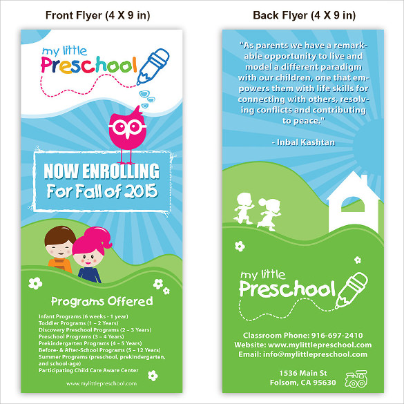 30 daycare flyer templates sample templates for Preschool brochure template