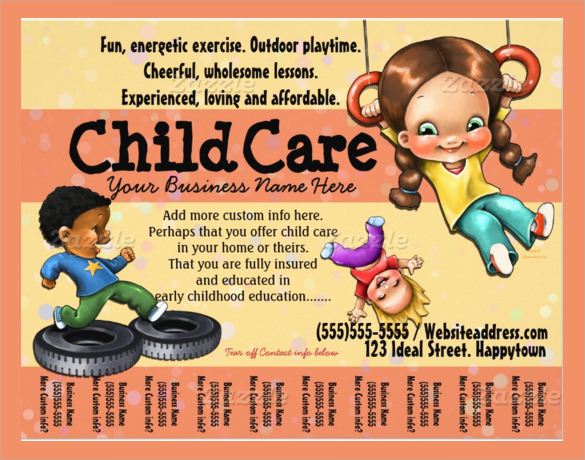 Invaluable image with regard to free printable daycare flyers
