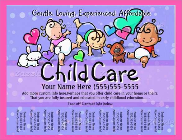 Daycare Flyer Template 30 Download Free Documents In Vector Eps Psd