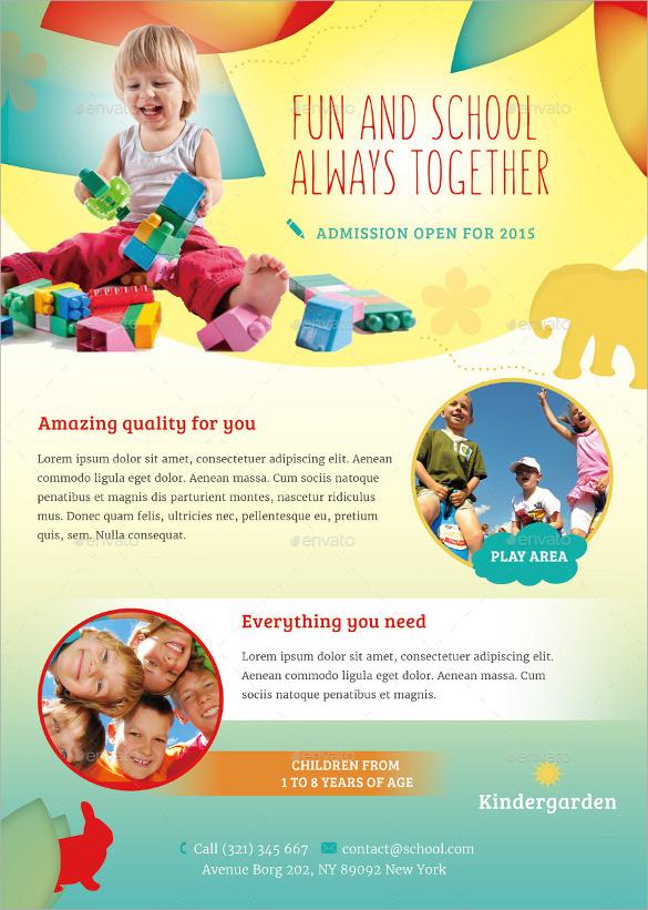 photoshop psd daycare flyer