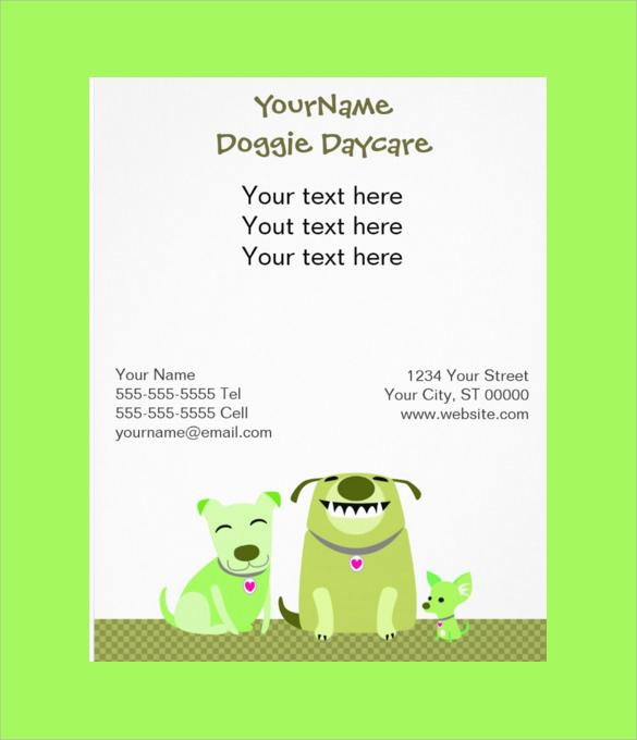 Old Fashioned Free Daycare Flyer Templates Embellishment Wordpress