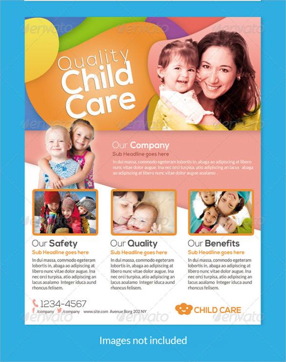 fantastic daycare flyer