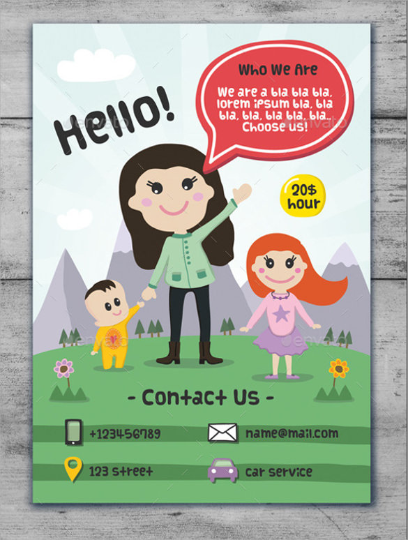 Daycare Flyer Template - 20+ Download Free Documents In Vector EPS ...