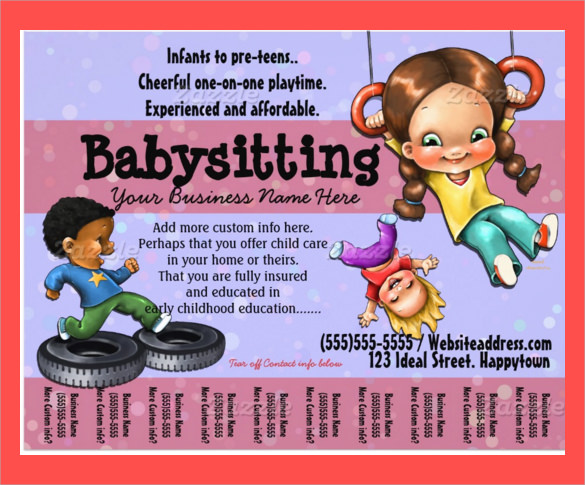 Daycare Flyer Template   Download Free Documents In Vector Eps Psd
