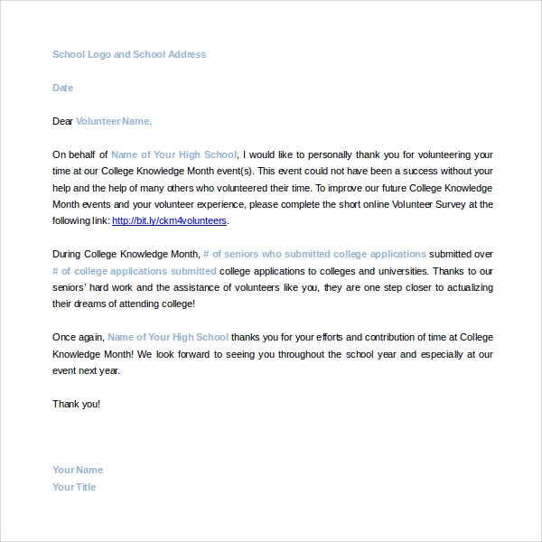 Sample volunteer thank you letter 9 download free documents in volunteer thank you letter template thecheapjerseys Gallery