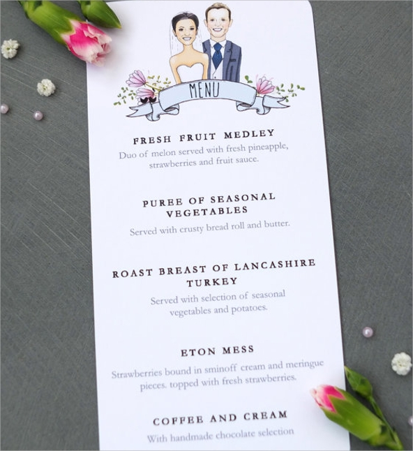 wedding breakfast menu1