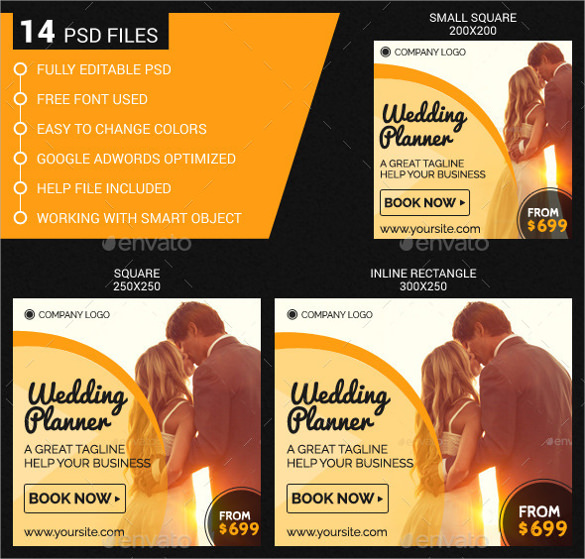 wedding planner template download