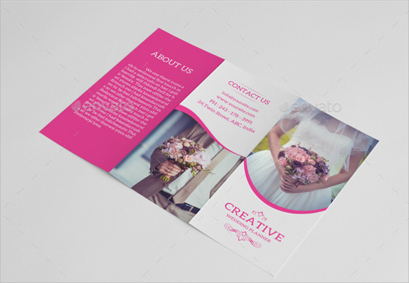 wedding planner trifold template