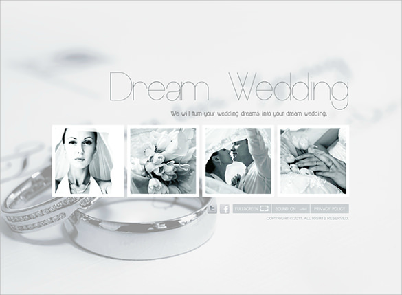 Wedding Planner Dynamic Flash Template