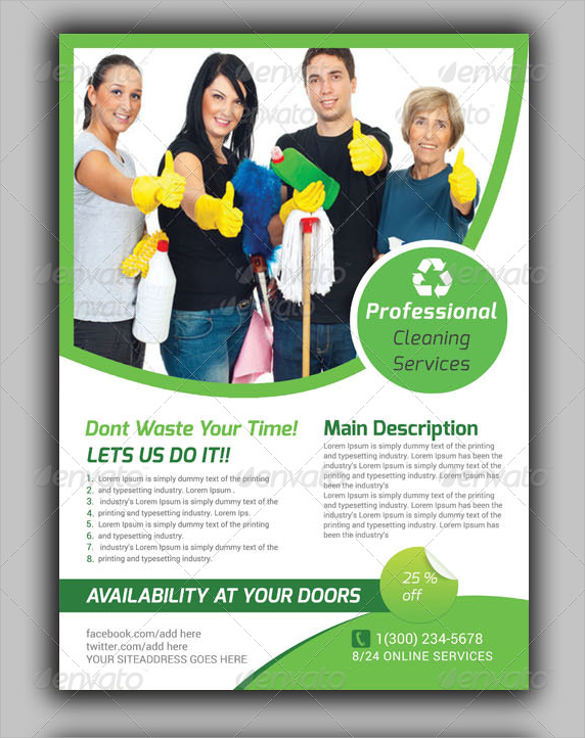 house cleaning services flyer