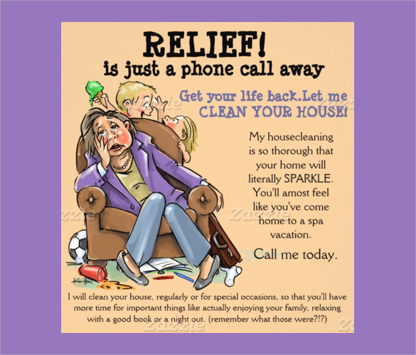 housecleaning promo flyer