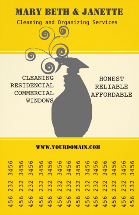 house window cleaning business flyer