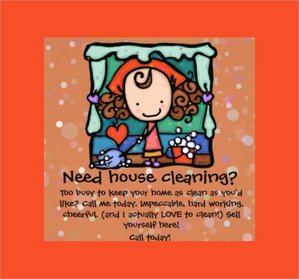 house cleaning flyers template