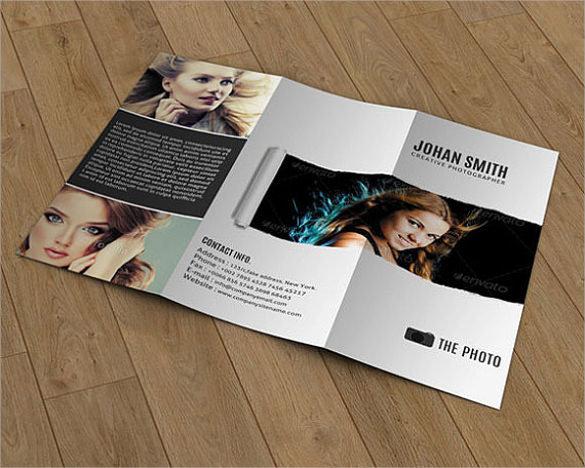 tri fold brochure for photography