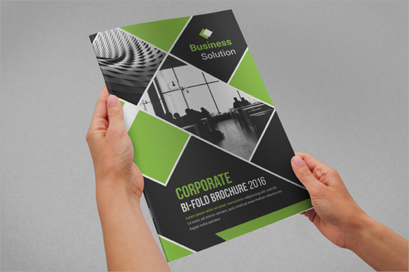 Exceptional Corporate Bi Fold Brochure New Awesome Ideas