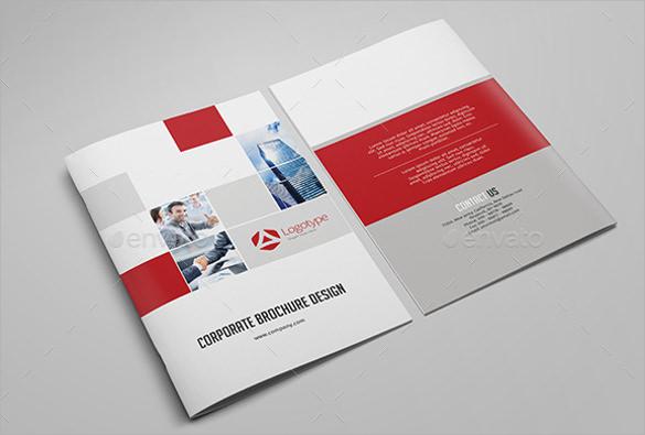 bi fold corporate brochure design