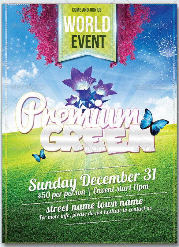 premium green flyers