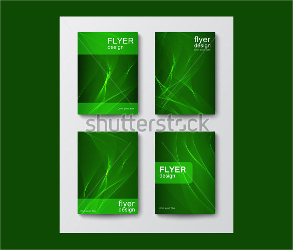 beautiful green flyer template