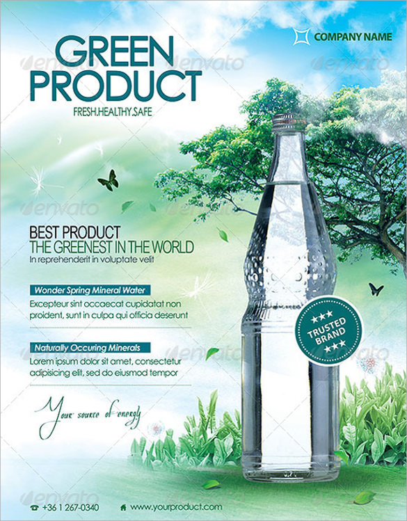 green product flyers