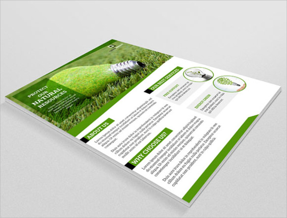Green Flyer Template   Download Documents In Vector Eps Psd