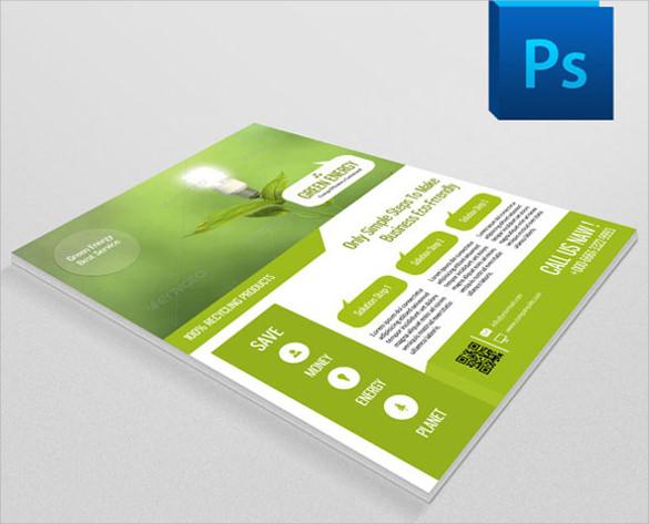 dazzling green flyer template