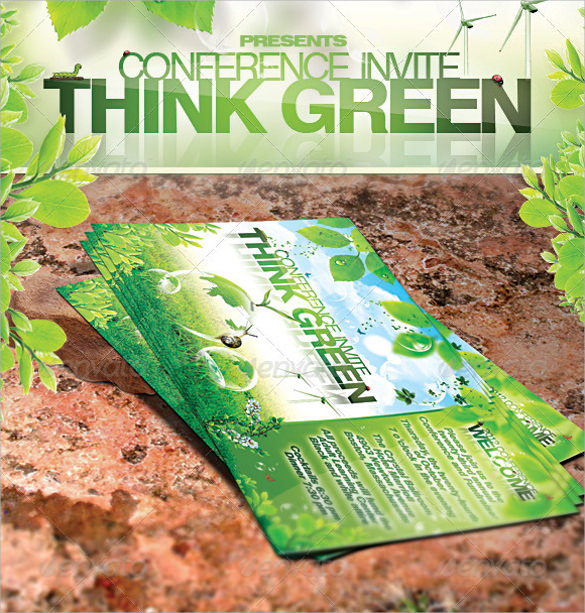 green promotion flyer