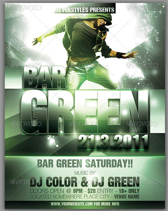 green poster flyer