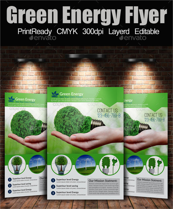 a4 green energy flyer