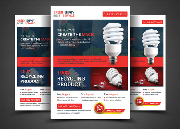 green energy solution flyer